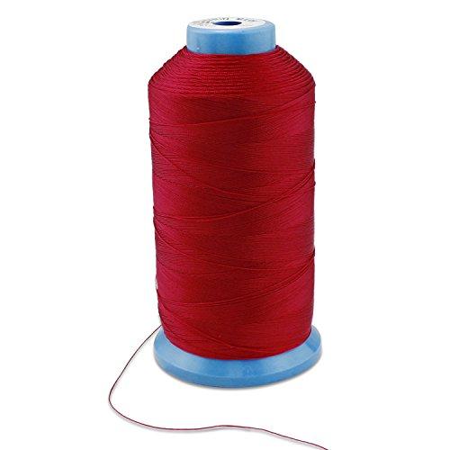 PsmGoods® Bonded Nylon Hilo de coser Resistente para máquina de coser Costura A Mano rosso