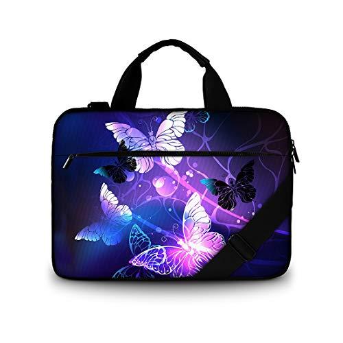 15 15.6 Inch Laptop Shoulder Bag, ToLuLu Protective Notebook Messenger Briefcase