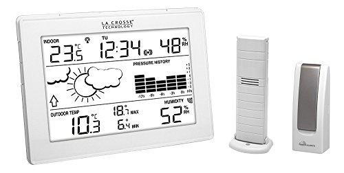 La Crosse Technology - Estación meteorológica ma10006 con Puerta de Entrada para el Smartphone/Tablet Blanco - Sistema de alertas móviles