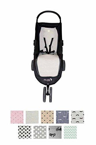 Fundas BCN ® - F61 - Colchoneta para Baby Jogger City Mini®, City Mini 3 ®, City Mini 4 ® - Diversos estampados (Kodak Stripes)