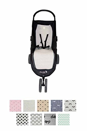 Fundas BCN ® - F61 - Materassino per passeggino Baby Jogger City Mini ®, City Mini 3 ® e City Mini 4 ® - Kodak Stripes
