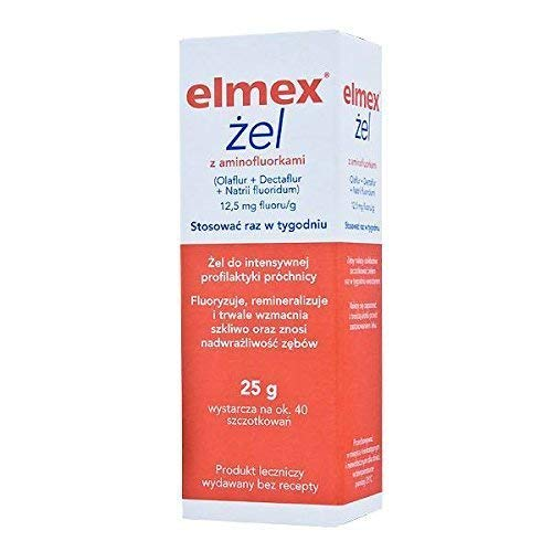 Elmex Gelee GEL - 25 g- 40 brushes - 1 box - Extreme prevention for cavities by Elmex