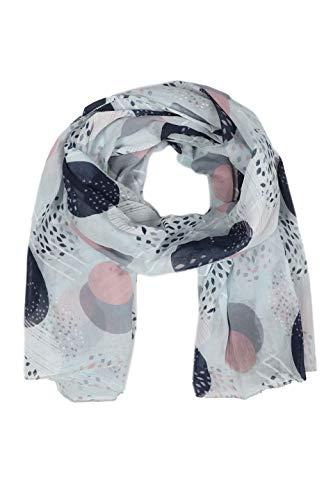 Zwillingsherz Seiden-Tuch im stilvollen Design - Hochwertiger Schal für Damen Mädchen - Halstuch - Umschlagstuch – Pashmina - Loop - weicher Schlauchschal für Frühjahr Sommer Herbst Winter - hellblau