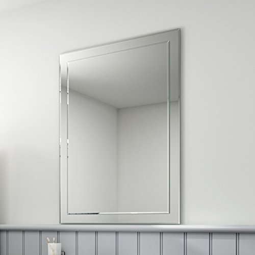 650 x 900 mm Rectangular Bevelled Designer Bathroom Wall Mirror MC147