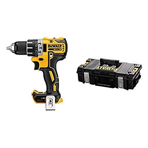 DEWALT 20V MAX XR Brushless Drill/Driver, Compact - Bare Tool (DCD791B) with DEWALT DWST08201 Tough System Case, Small