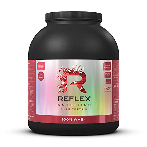 Reflex Nutrition 100% Whey | Protein Powder | Pure Whey Concentrate | Amino Acids | Amazing Taste | No Added Sugar | Protein Powder | (Strawberry & Raspberry, 2kg)