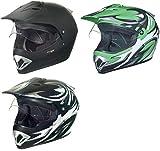 RX-963 Crosshelm Integralhelm Quad Cross Enduro Motocross Offroad Helm rueger, Größe:XS (53-54), Farbe:Grün V/RCK