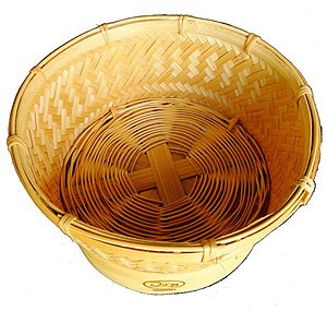Innovative Thai Bamboo Sticky Rice Automatic Basket for 1.8 Liter Size Electronic Rice Cooker (Medium Size)