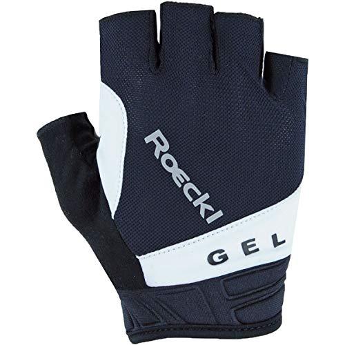 Roeckl Itamos 2021 - Guantes de ciclismo (talla 6,5), color negro y blanco