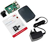 Raspberry Pi 3Offizielles Desktop Starter-Set (16 GB, Schwarz) Schwarz 16 gb