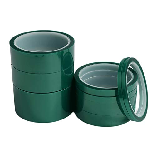 Polyester-Klebeband mit Silikon-Kleber – grünes Koptan-Klebeband, PET, hitzebeständig, Isolierung, Polyimid-Folie, Pulverbeschichtung, Eloxierung, 33 Meter lang 15mm×33cm grün