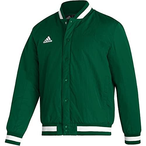 adidas Basecoach Jacket - Men's Baseball 3XL Team Dark Green/White