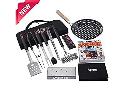 Grillers Choice- Grillers Set- Hand Selected Grilling Tool Kit by Chef and BBQ Judge. No Other Barbecue Tool Set Like This One. Includes The Barbeque Bible by Steven Raichlen