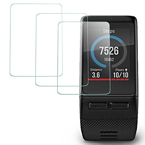AFUNTA Protector de Pantalla para Garmin Vivoactive HR Reloj Inteligente, 3 Paquetes Vidrio Templado Película Anti - arañazos Escudo de Alta Definición
