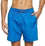 Calvin Klein Medium Drawstring Bañador, Azul (Snorkel Blue 19-4049 CJR), X-Large para Hombre