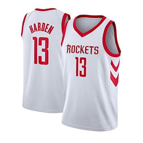 ZRHZB #13 James Harden Camiseta de Baloncesto para Hombre Transpirable Resistente al Desgaste Camiseta(Tamaño: S-XXL),Blanco,XXL