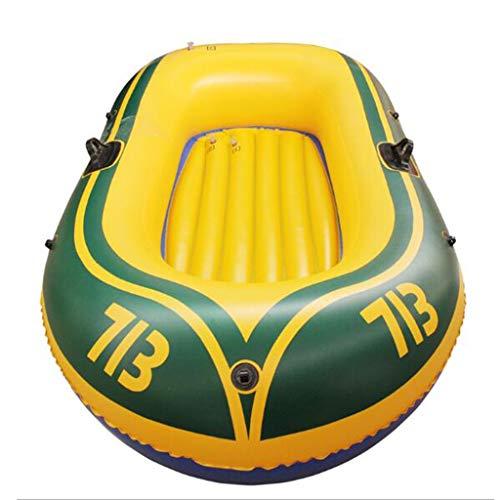 ZCAYIN Battello Pneumatico Gonfiabile Ispessita Kayak da Pesca, Tender for 1/2/3 Persone, Gonfiabile Gummibootset, Due Persone in Barca con pagaie + gonfiatore (6 Taglie Disponibili)