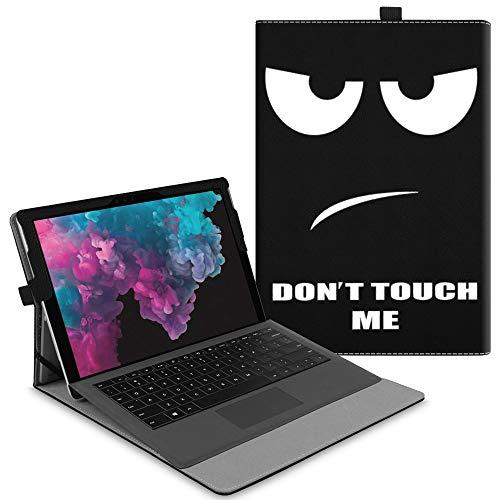 Fintie Hülle für Microsoft Surface Pro 7/ Pro 6/ Pro 5/ Pro 4/ Pro 3 12,3 Zoll Tablet - Multi-Sichtwinkel Hochwertige Tasche Schutzhülle aus Kunstleder, Type Cover kompatibel, Don't Touch