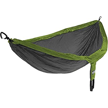 Eagles Nest Outfitters ENO DoubleNest Hammock, Portable Hammock for Two, Lime/Charcoal
