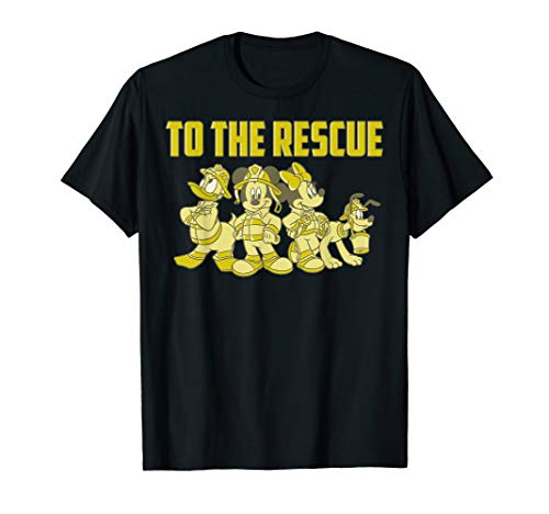Disney Mickey And Friends Firefighters To The Rescue T-Shirt