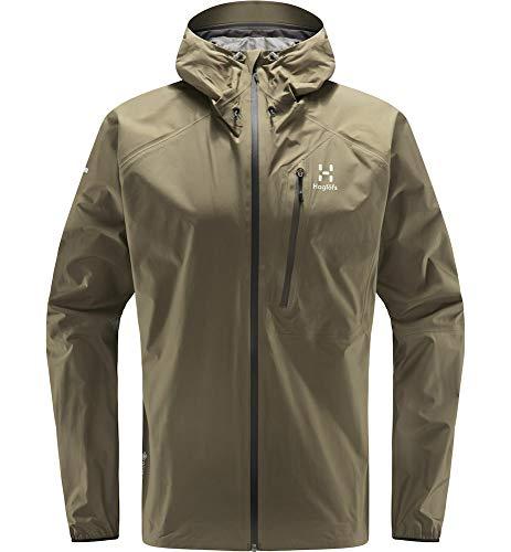 Haglöfs Regenjacke Herren Regenjacke L.I.M Jacket Wasserdicht, Winddicht, Atmungsaktiv Small Sage Green XL XL