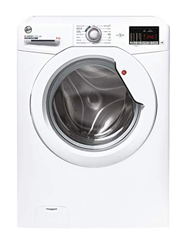 Hoover H-Wash 300 H3W482DE Free Standing Washing Machine, Rapid Wash Cycles, 8 kg, 1400 rpm, White