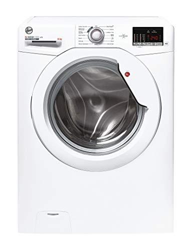 Hoover H-Wash 300 H3W482DE Free Standing Washing Machine, Rapid Wash Cycles, 8 kg, 1400 rpm, White