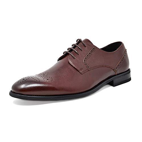 Bruno Marc Men's Dark Brown Dress Shoes Wingtip Oxfords Washington-5 Size 10.5 M US