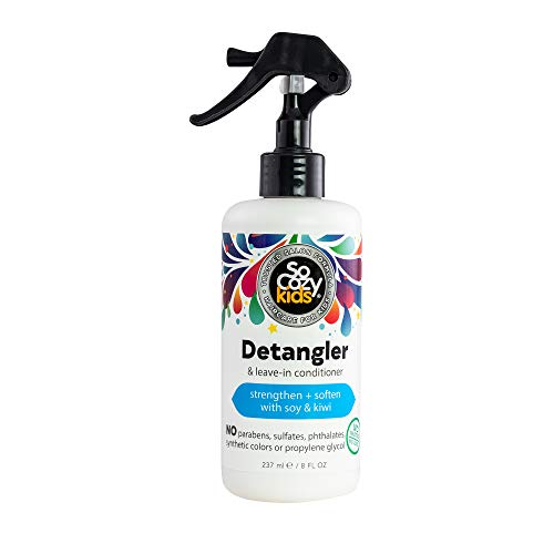 SoCozy Detangler Leave-In Conditioner Spray For Kids Hair, Fruity-Tutti, 8 Fl Oz (Pack of 1)