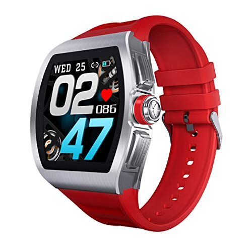 M1 Smart Watch, Fitness Tracker,2021style, Ip68 Waterproof, with Oxygen Saturation, Bluetooth Call, Children's Male and Female Pedometer,Removable Strap(Red)