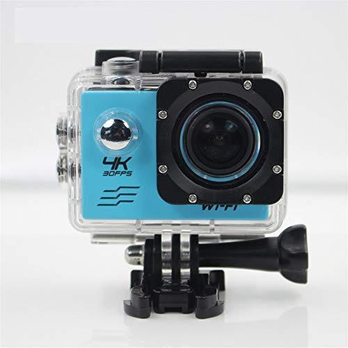FSMJY Action-Kamera, Sport wasserdichte Hochgeschwindigkeitskamera 4K Ultra HD 170 Grad Weitwinkel A + Level hohe Auflösung mit Einer Vielzahl von Zubehör (Color : Blue)
