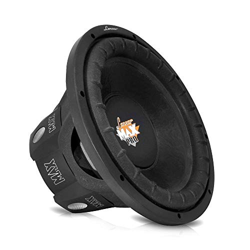 "LANZAR 6.5 inch Car Subwoofer Speaker - Black Non-Pressed Paper Cone, Aluminum Voice Coil, 4 Ohm Impedance, 600 Watt Power and Foam Edge Suspension for Vehicle Audio Stereo Sound System - MAXP64, 6.5"" -inch"