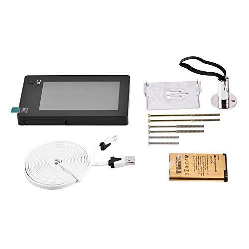 """Visor de mirilla digital, 4.3 """"TFT LCD en color Smart Digital Door Peephole Viewer 140 ° Gran angular HD Cámara de seguridad Monitor, Sistema de cámara doméstica Monitor, Para seguridad del hogar"""
