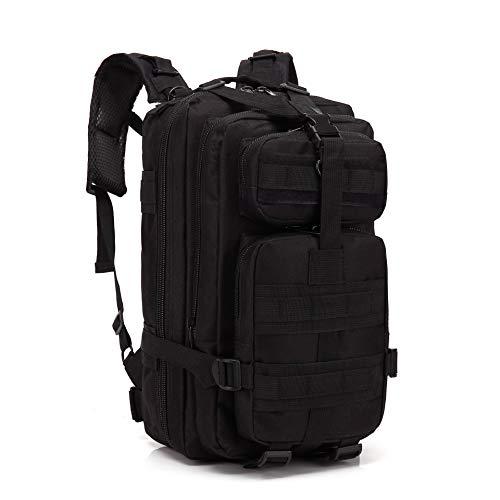 Greenpromise 30L hombres/mujeres deporte bolsa senderismo camping bolsa viaje trekking militar táctica mochila mochilas, negro