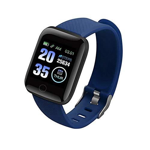 LYB Pulsera inteligente con frecuencia cardíaca y presión arterial para Xiaomi Mi Note 10 Redmi Note 8T Note 8 Pro Sport Pulsera de reloj (Color: Azul)
