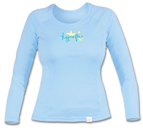 Hyperflex Damen Langarm-Wassershirt, Damen, Sky, 4