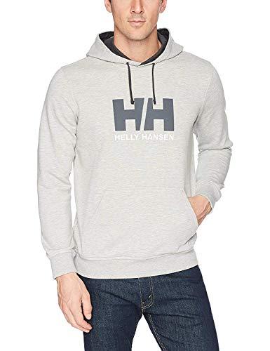 Helly Hansen Men's Standard HH Logo Hoodie, 949 Grey Melange, Large