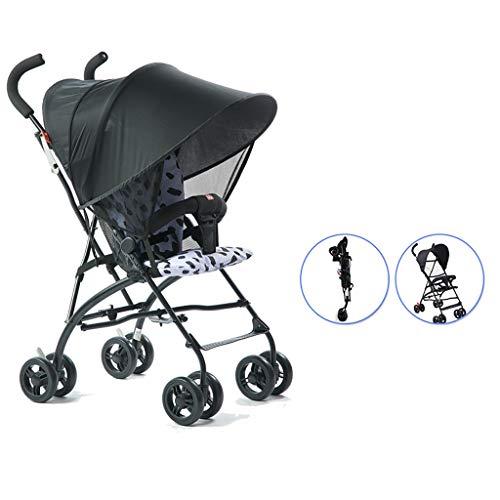 LWJJHJ Vouwwagen, Lichtgewicht wagen, Compact Travel Buggy-Uitschuifbare luifel