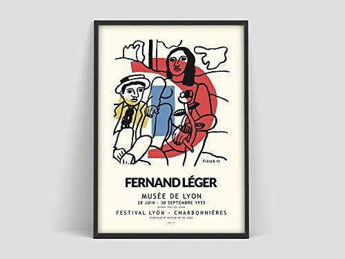 Póster de Fernand Leger, impresión de Fernand Leger, póster de exposición de arte, Museo de Arte Moderno, lienzo sin marco M 40x60cm