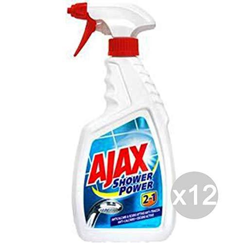 Set 12Ajax Spray Dusche shower-power 750ml 2in1Reinigungsmittel reinigen und der Haus