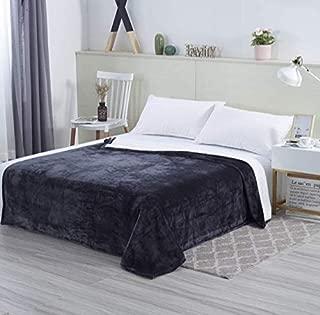 DreamQuil Flannel Fleece Throw Blanket, King Size Grey, Premium Microfiber Throw Blanket