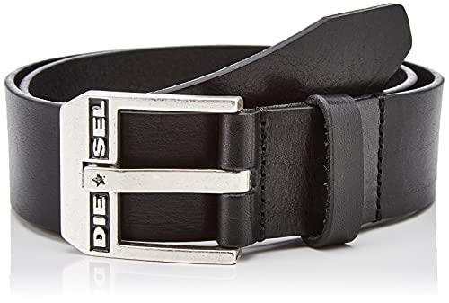 Diesel BLUESTAR, Cintura Uomo, Nero (Black/Argento America H5903-Pr227), 6 (Taglia Produttore: 105)