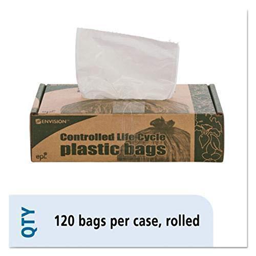 Eco-Degradable Plastic Trash Garbage Bag, 13 Gal.7Mil, 2X30, 120/Box