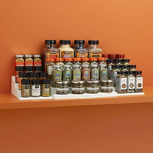 YouCopia 48 Spice Bottle ShelfSteps Organizer, Expandable, White