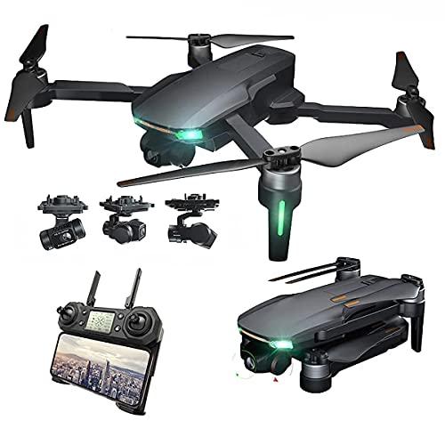 Drone avec caméra 4k, drone pliable pour enfants et adultes, hélicoptère à quatre axes adapté aux débutants, maintien en hauteur, suivez-moi, garçon, fille et adulte, cadeau de jouet télécommandé