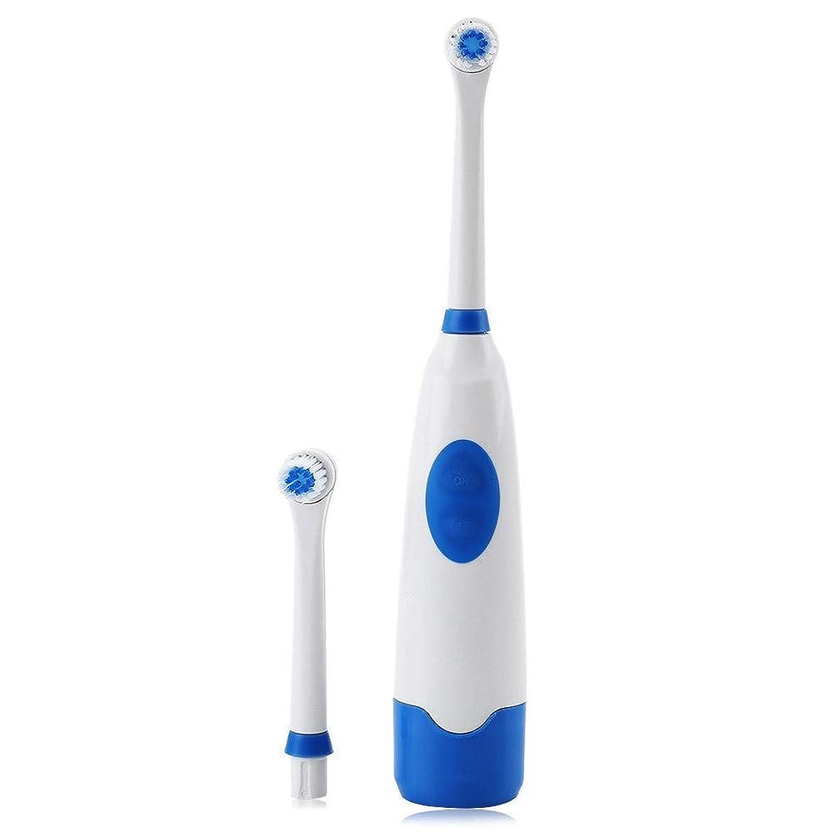解読するパッチ煙電動歯ブラシ電動口腔衛生歯ブラシ2本付き