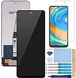 QHM Trade Pantalla LCD Táctil Asamblea Repuesto Compatible con Xiaomi Redmi Note 9 Pro Negro con Herramientas(Negro SIN Marco)