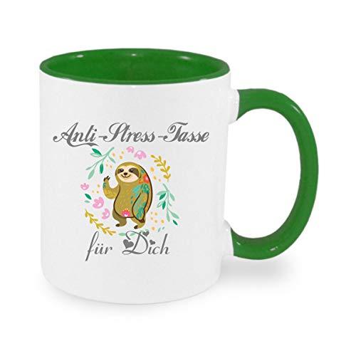 Crealuxe Anti Stress Tasse - Kaffeetasse mit Wunschname, Bedruckte Tasse mit Sprüchen oder Bildern, Bürotasse,
