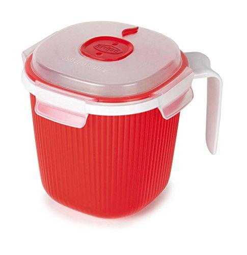 Snips 000700 Tazza per Bevande Calde e zuppe-Contenitore per microonde-0,7 lt, 700 milliliters, Plastica, Bianco