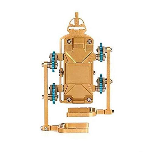 WDLY DIY Todo Metal Artesanos Mini Caminar No.1 Robot Inteligente, Metal 3D Manual del Modelo De Ensamblaje Puede Empezar A Construir Bloques, Juguetes, Enseñanza Moldes
